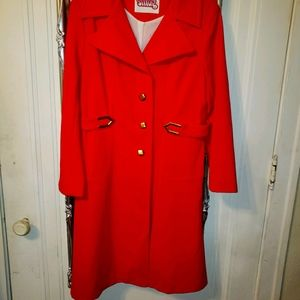 60s vintage red rain coat great condition